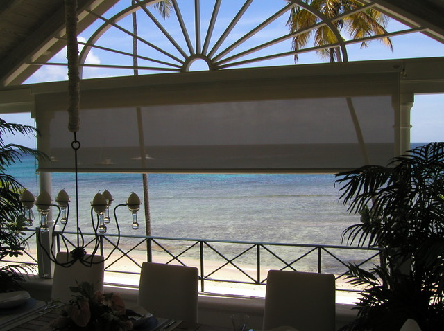 Ocean View Screen tropical-roller-blinds