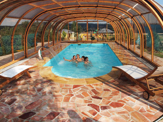 Retractable pool enclosure high modern swimming pools and spas other metro by alukov a s Retractable swimming pool enclosures