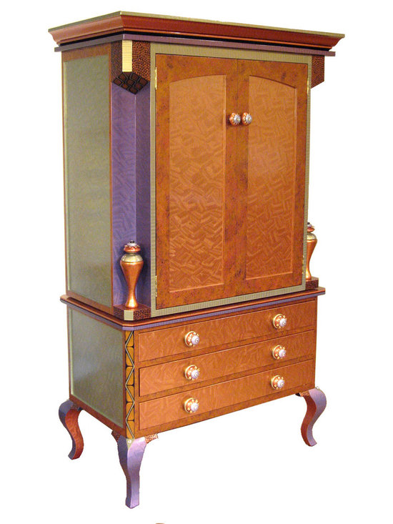 Diva Armoire  in Amber Paint Finish -
