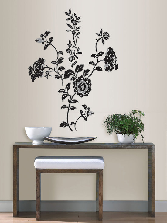 Brocade - An embroidered flower look for walls with removable wall decals. This Brocade kit can be arranged however you like to best suit your space.