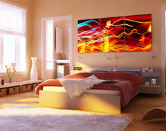 Bedroom Wall Design #1 modern-artwork