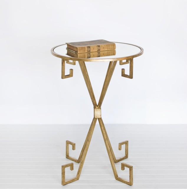 Worlds Away August Gold Leafed Side Table traditional side tables and accent tables