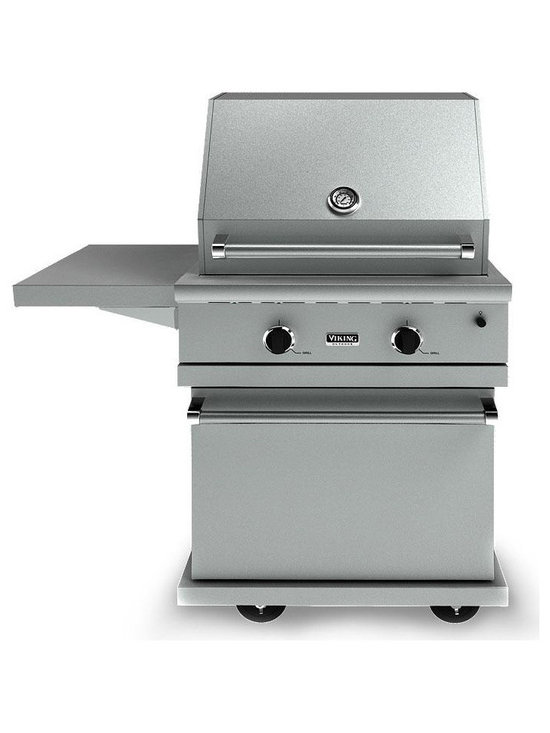 "Viking 30"" Bbq Cart For 100/300 Series Grills, Stainless Steel 