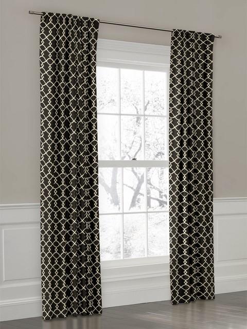 Curtains Ideas black window curtain : White Grommet Curtains. Black And White Stripe Grommet Curtains ...
