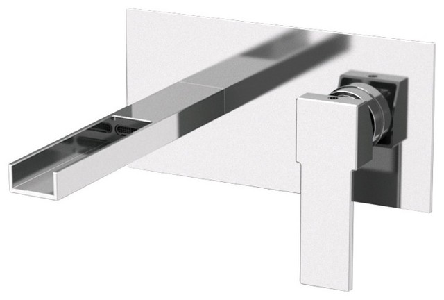 Modern Wall Mounted Sink Faucet with Waterfall Spout - Modern - Bathroom Faucets And Showerheads ...