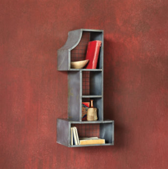 Numero Uno Cubby contemporary-wall-shelves