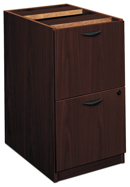 basyx by HON BL Series Laminate Two-Drawer Pedestal File contemporary ...