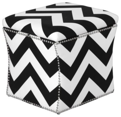 Storage Ottoman, Chevron modern ottomans and cubes