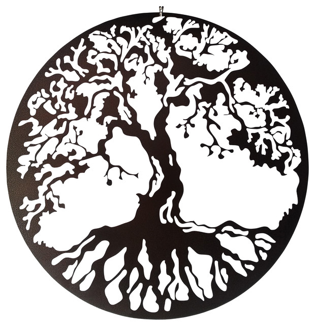 tree of life metal wall art traditional wall. Black Bedroom Furniture Sets. Home Design Ideas