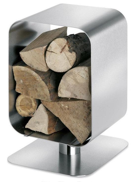 Blomus - Bebop Wood Basket - Stainless steel.