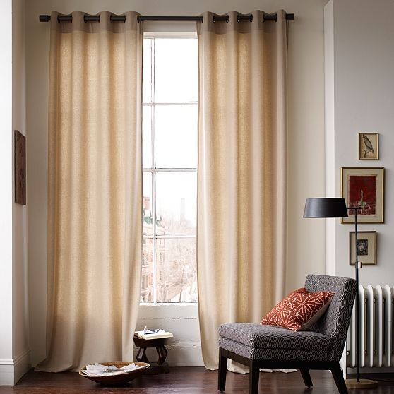 Wool Panel with Grommets - Modern - Curtains - by West Elm