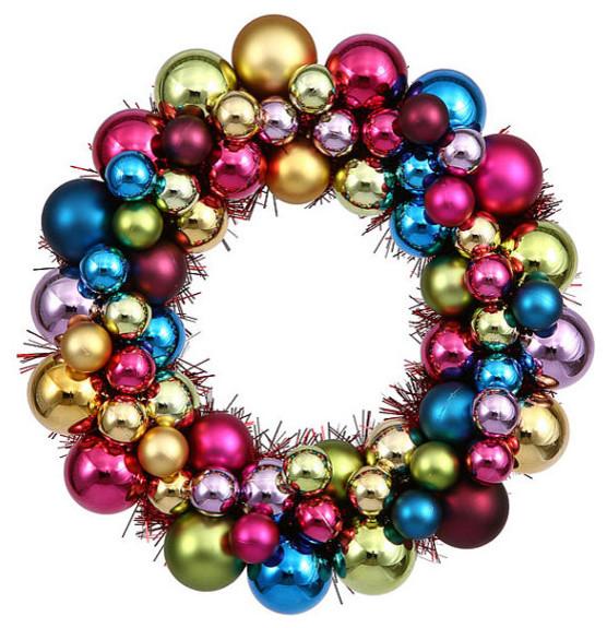 Willy Wonka Christmas Ball Wreath - Through Her Looking Glass  |Christmas Ball Wreath