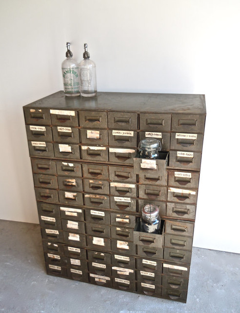 Vintage Industrial Lyon Steel Cabinets by Reclaim - Traditional - by ...