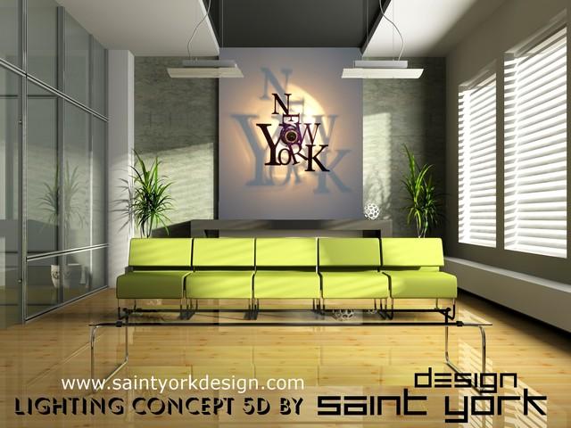 luminaire design new york 5d moderne other metro par saint york design. Black Bedroom Furniture Sets. Home Design Ideas