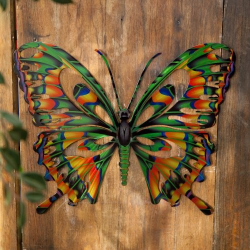 3d butterfly metal outdoor wall art contemporary ForOutdoor Butterfly Decor