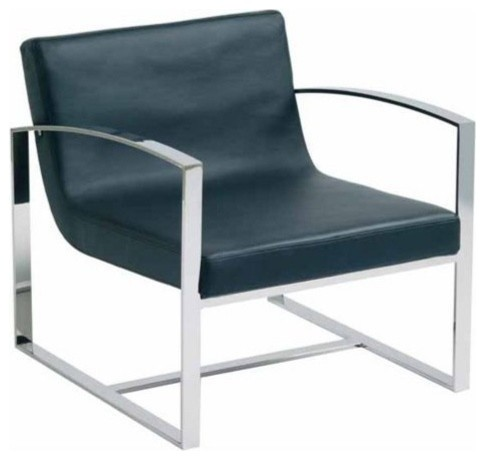 Nuevo Living Corbin Lounge Chair - Black contemporary-chairs