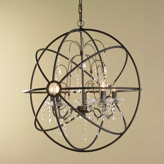 crystal and metal orb chandelier chandeliers by shades of light