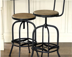 Allen Stool with Back Rest traditional bar stools and counter stools