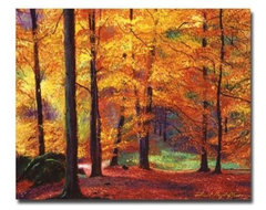 Autumn Serenity Canvas Art by David Lloyd Glover modern artwork