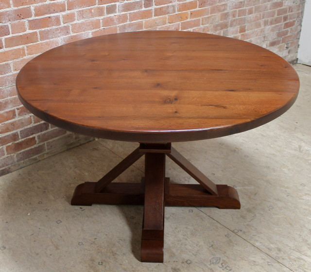 Reclaimed Wood Round Table: Round Reclaimed Barn Wood Dining Table