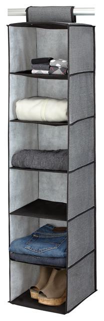 Kennedy Home Collection Grey 6-shelf Sweater Organizer contemporary-closet-storage