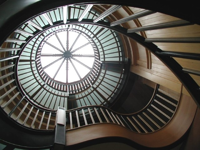 Circular stair traditional-staircase