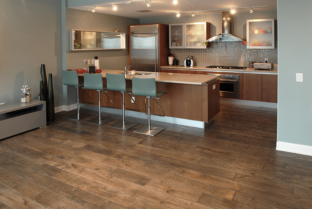 Private Residences contemporary-hardwood-flooring