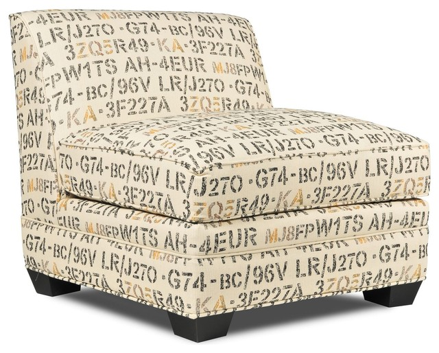 Seabury Armless Accent Chair Contemporary Living Room