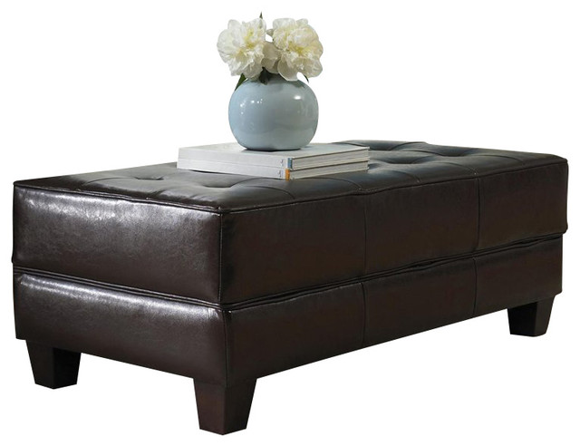 Riverside Furniture Leather Large Cocktail Storage Ottoman