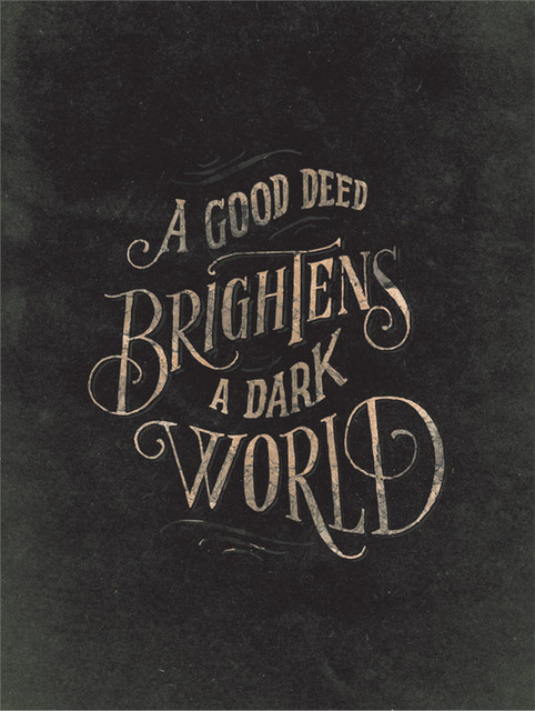 Good Deeds Print contemporary artwork