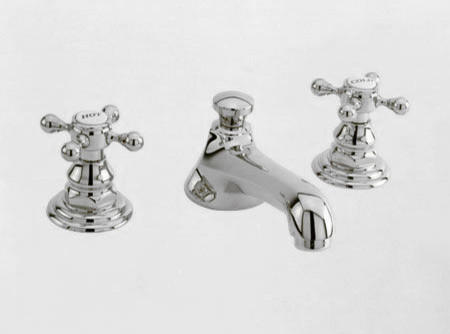 Newport Brass Widespread Faucet With Metal Cross Handles Traditional Bathroom Faucets And