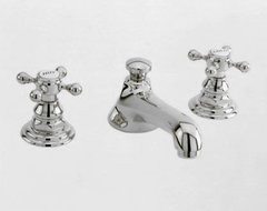Newport Brass Widespread Faucet with Metal Cross Handles traditional-bathroom-faucets