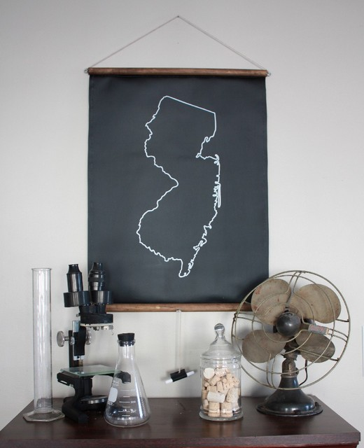 Chalkboard State Map by shopdirtsa contemporary artwork