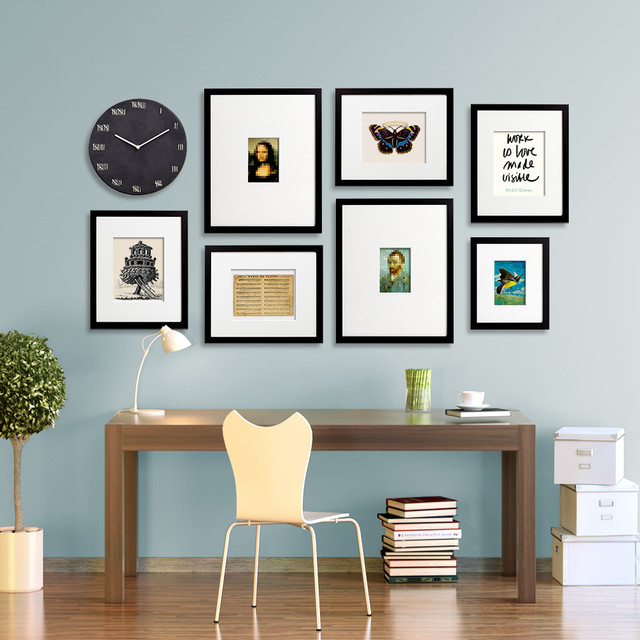 Gallery wall layouts using easygallery frames modern for Picture wall layout