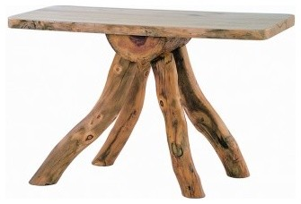 log funky leg bug table rustic console tables by