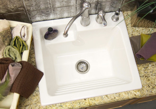 Utility Sink Laundry Tub With Washboard Microban
