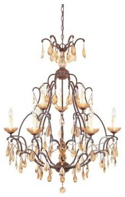 Designers Fountain 98389 Bollo 9 Light Chandelier in Venetian Bronze Finish modern-chandeliers