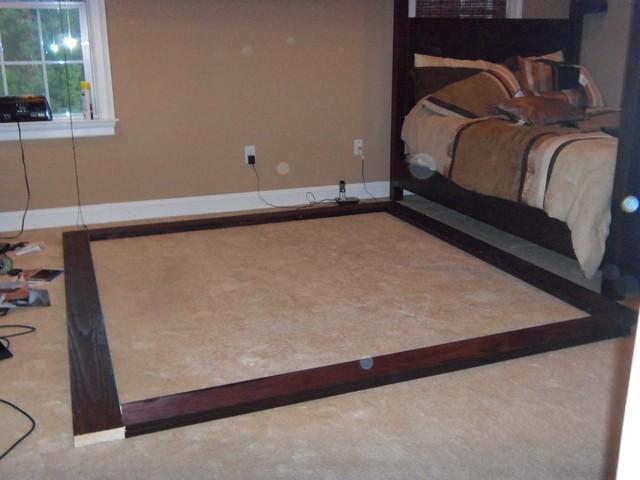 Custom Built Bed contemporary