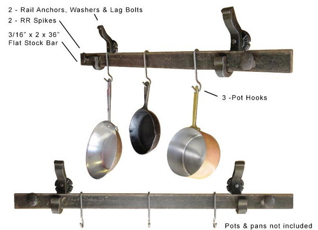 Pot & pan hanger (wall mounted) - Eclectic - Pot Racks And Accessories - san francisco - by ...