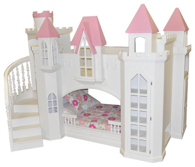 Castle Bed w/ Wraparound Staircase - Traditional - Kids - houston - by Sweet Retreat Kids