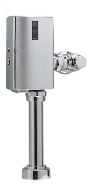 Toto TET1GNC Nickel Chrome EcoPower Toilet Flushometer Valve transitional-toilets