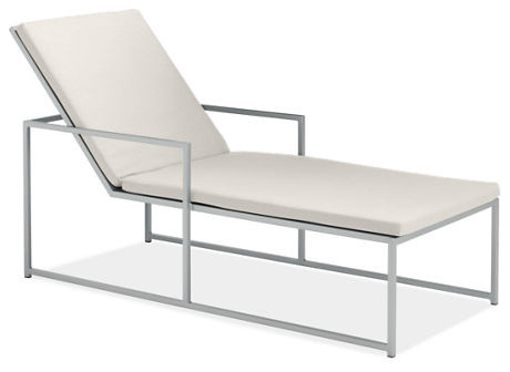 Cruz Chaise Cushion White Modern Outdoor Chaise Lounges By Room Board