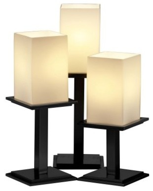JDG Fusion 3-Light Table Lamp - Matte Black modern table lamps