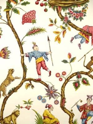 "Scalamandre ""Chinoise Exotique - White"" (WP81547-002) asian-wallpaper"