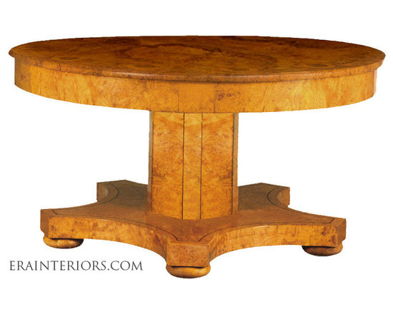 French Empire Single Pedestal Round Center Table -