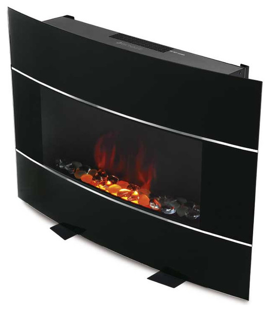 Bionaire Electric Fire Place Black contemporary-indoor-fireplaces