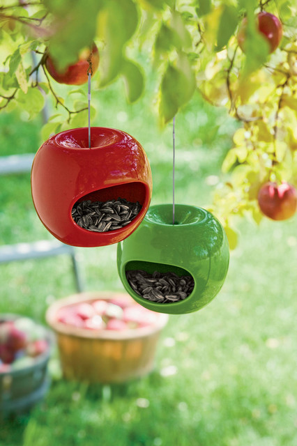 Apple Bird Feeders traditional outdoor decor