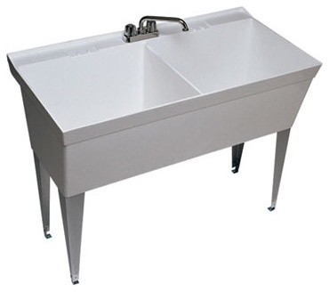 Veritek Double Bowl Laundry Sink - Modern - Bathroom Sinks - by ...