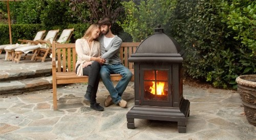 Pagoda Design Bronze Fire Pit traditional-fire-pits