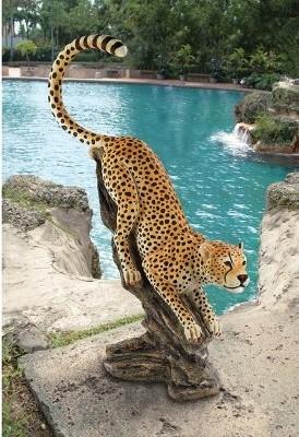 Design Toscano Stalking the Savannah Cheetah Statue modern-garden-statues-and-yard-art